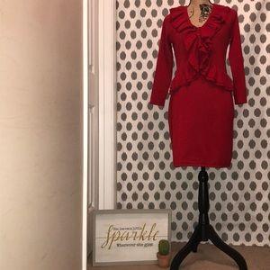 A Calvin Klein Red Sweater Dress